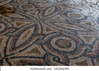 Ancient uncovered mosaics in Israel