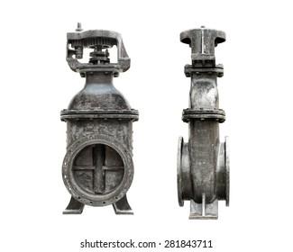 ancient underground water gate, 600 mm diameter, hand wheel type, made in France, 1971