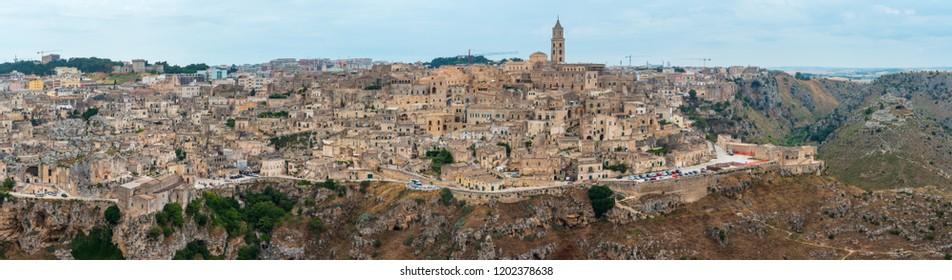 Ancient Unesco heritage old town of Matera (Sassi di Matera), Basilicata, southern Italy.