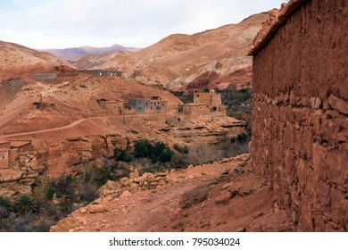Ancient village in Atlas mountains, Morocco