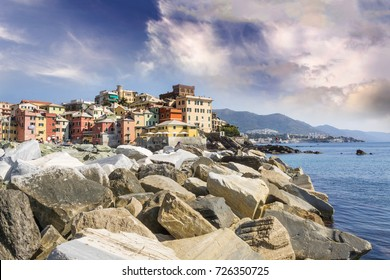 Ancient village of Boccadasse, genova, Italy