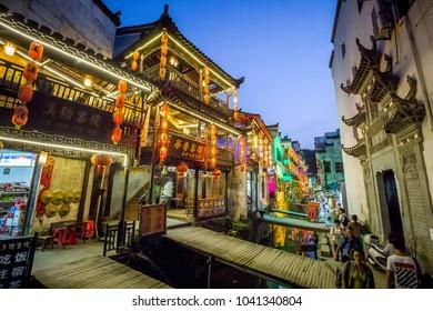 "Ancient village China, WuYuan, Jiangxi, China - September 2017: the old architecture and most beautiful village of china call ""Wuyuan Village"" upcountry of China"