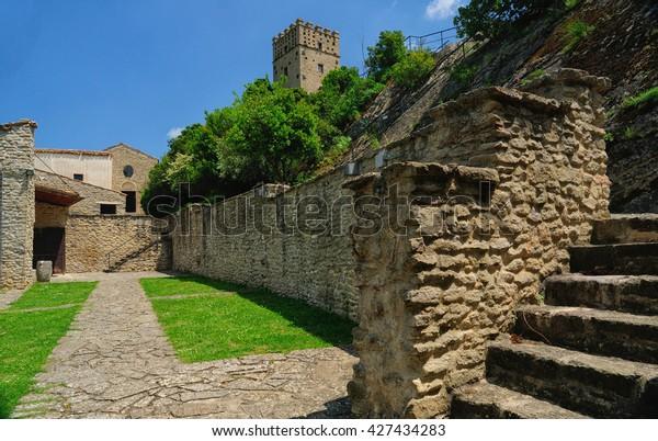 Ancient village of Roccascalegna, medieval castle in Abruzzo