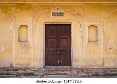 Ancient vintage Indian door.