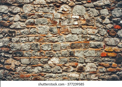 Ancient wall with old stones