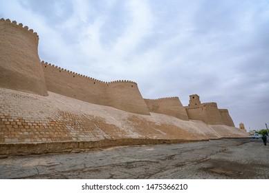 Ancient walled city Itchan Kala in Khiva, Khorezm Region, Uzbekistan