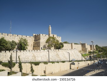 the ancient walls of jerusalem old town israel