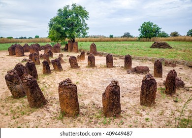 The ancient Wassu Stone Circles in Gambia