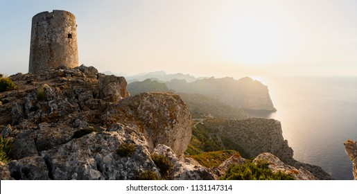 Ancient Watchtower in the Sierra de Tramuntana of Mallorca