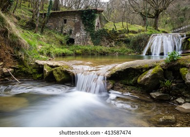 Ancient water mill of Belandia, Vizcaya (Spain)