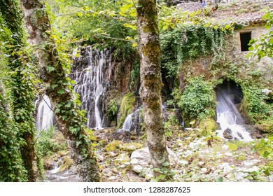 The ancient water mill in the natural reserve of Morigerati, by Bussento river in Cilento National Park, Salerno province, Campania, Italy