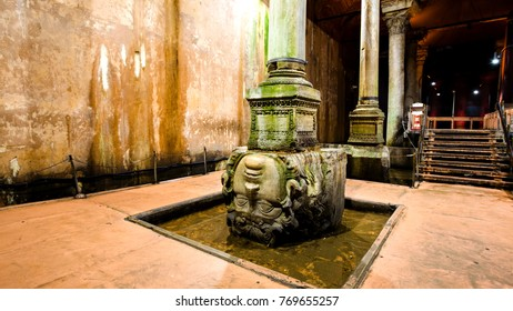 ancient water storage Basilica Cistern in Istanbul Turkey