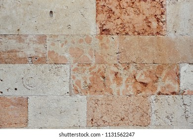 Ancient weathered church wall