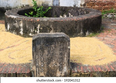 The ancient wells in Duong Lam village, Hanoi, Vietnam