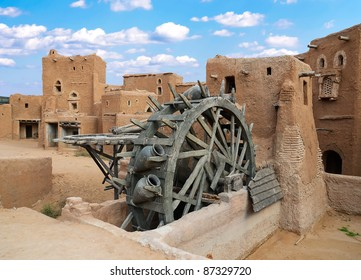 Ancient wheel well in the medieval Mongolian capital Sarai-Batu