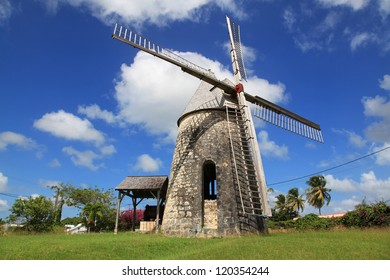 Ancient windmill in Marie-Gallante, Guadeloupe