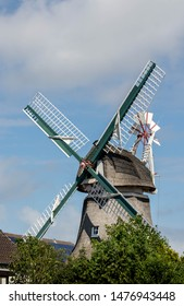 ancient windmill on island norderney, travel germany