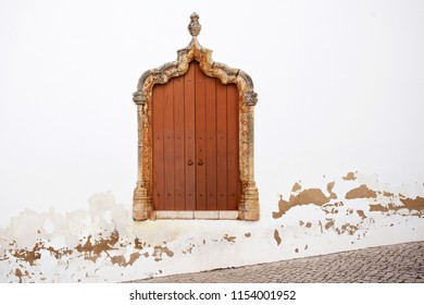 ancient window with space on wall for text