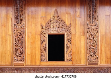 e13bcb390ef Gold Window Red Frame Form Wat Stock Photo (Edit Now) 634943195 ...