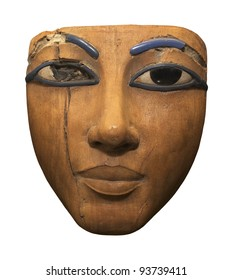 Ancient Wood Sculpture of An Egyptian Face