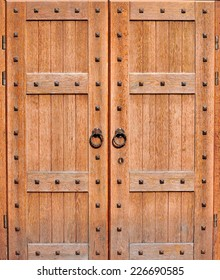 Ancient wooden door background