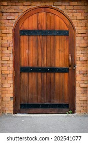 Ancient Wooden Door of The Castle