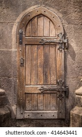 Ancient wooden door in stone castle wall & Castle Door Images Stock Photos \u0026 Vectors | Shutterstock