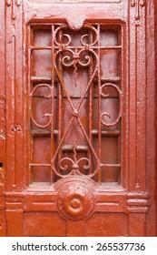 Ancient wooden door, Ukraine , Zhovkva.