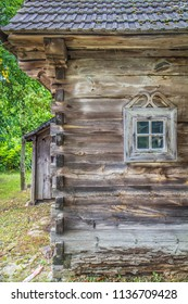 An ancient wooden house in eastern Poland