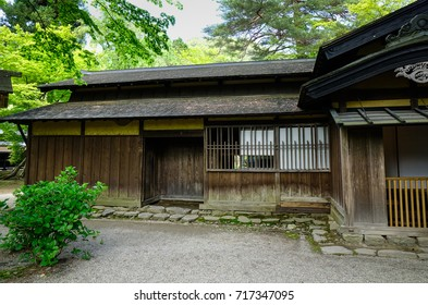 An ancient wooden house at Kakunodate Samurai District in Akita, Japan. Kakunodate is a former castle town and samurai stronghold in Akita Prefecture.