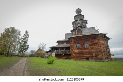 Ancient wooden house at the village in Suzdal, Russia.