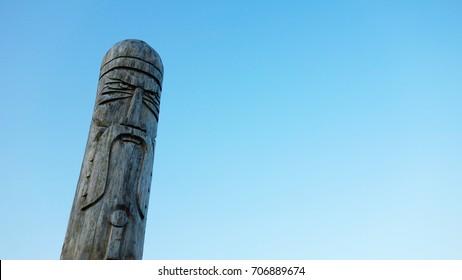 ancient wooden Slavic idol Scandinavian, god