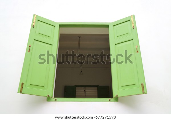 Ancient wooden windows