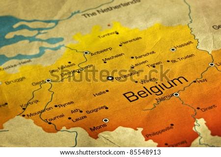 Ancient World Map Belgium Stockfoto (Jetzt bearbeiten) 85548913 ...