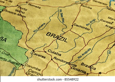 Brazil maps stock photos images photography shutterstock ancient world map of brazil gumiabroncs Gallery