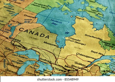 Ancient World Map of Canada