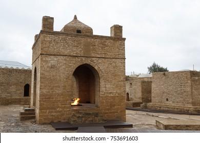 Ancient Zoroastrian temple in Suraxani, near Baku, Azerbaijan