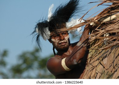 Ancol, Jakarta / Indonesia - August 11, 2007 : Asmat Beorpits Festival, World Heritage Site