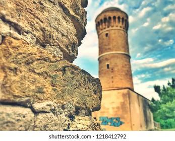 Ancona, Italia 2018 maggio: historical ligthouse of city