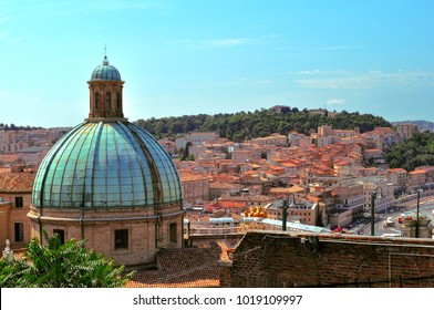 Ancona, Italy - Aug 10, 2014: Dome of church of St. Pellegrino and Teresa view from the Ancona Cathedral