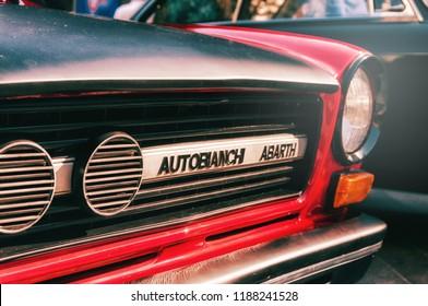 ANCONA , ITALY - SET 23 - 2018 : AUTOBIANCHI A 1112 ABARTH  old car