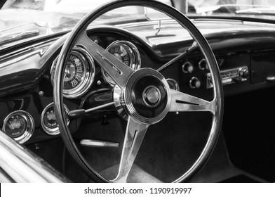 ANCONA , ITALY - SET 23 - 2018 : ALFA ROMEO TOURING  old car