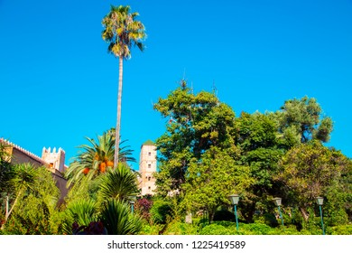 Andalusian gardens in Udayas kasbah.Kasbah of the Udayas is a small fortified complex and a symbol of the Almohad arquitecture, added to the UNESCO World Heritage.Rabat, Morocco. North Africa.