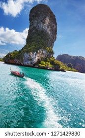 Andaman coast with beautiful rocks and beaches, Krabi province, Thailand