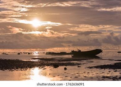 Andaman and Nicobar Islands, India - 09.15.2019: Beautiful beach in Andaman Islands