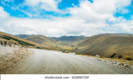 Andean landscape in Salinas de Guaranda, Bolivar province, Ecuador, above 4,000 metres