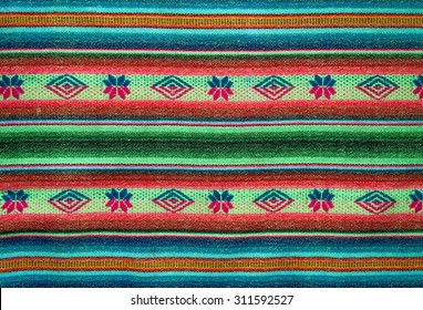 Andean weaving loom made in bright colors