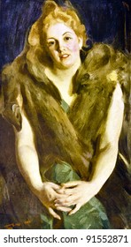 """Anders Leonard Zorn """"Maya"""". Illustration from the book """"Paintings by contemporary artists in paint,"""" publisher by Knebel, Moscow, Russia, 1904."""