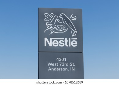 Anderson - Circa April 2018: Nestle manufacturing plant. Nestle produces Coffee-Mate, Nesquick, and Buitoni pastas in Indiana IV