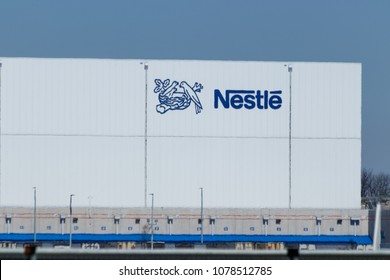 Anderson - Circa April 2018: Nestle manufacturing plant. Nestle produces Coffee-Mate, Nesquick, and Buitoni pastas in Indiana III